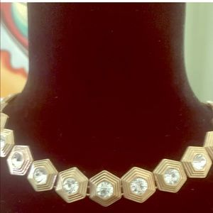 Gorgeous J. Crew Gold And Rhinestone Collar